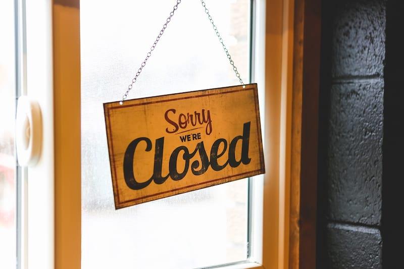 Рекордное количество закрытий фирм
