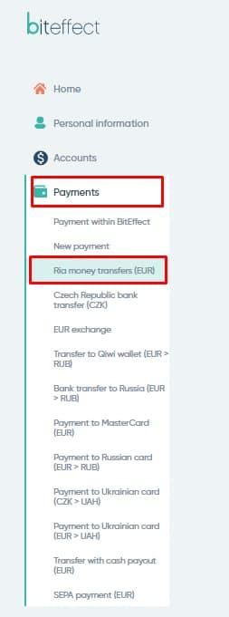 send Ria money transfer